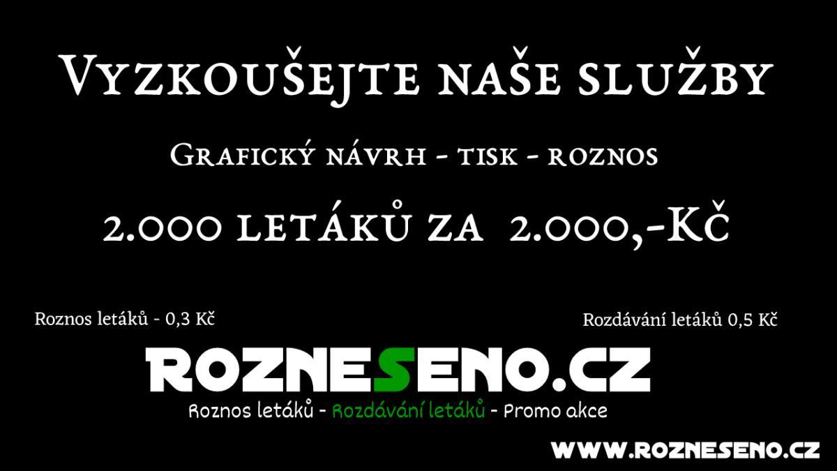 Roznos reklamních tiskovin Praha a okolí od 0,3 Kč (1/1)