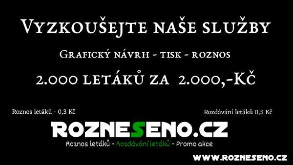 Roznos reklamních tiskovin Praha a okolí od 0,3 Kč